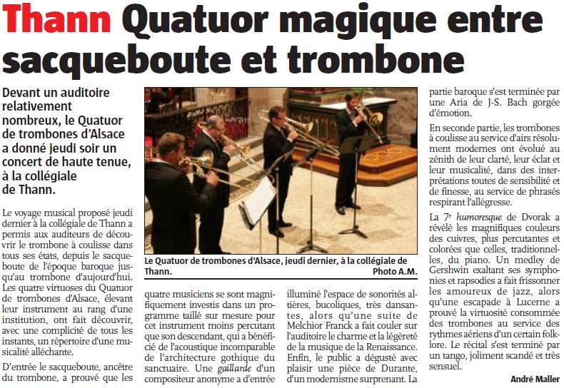 Article quatuor thann